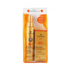 Nuxe Sun Spray Fondant Haute Protection SPF 50 150 ml + Sun Crème Fondante Visage SPF 50 50 ml