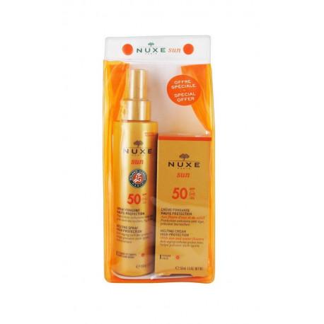 Nuxe Sun Spray Fondant Haute Protection SPF 50 150 ml + Sun Crème Fondante Visage SPF 50 50 ml
