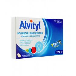 Alvityl Mémoire et Concentration 30 Capsules