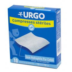 Urgo Compresses Stériles 7.5 cm x 7.5 cm Boîte de 10