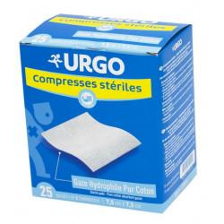 Urgo Compresses Stériles 7.5 cm x 7.5 cm Boîte de 25