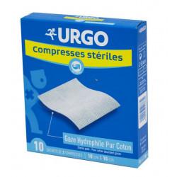 Urgo Compresses Stériles 10 cm x 10 cm Boîte de 10