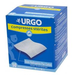 Urgo Compresses Stériles 10 cm x 10 cm Boîte de 50