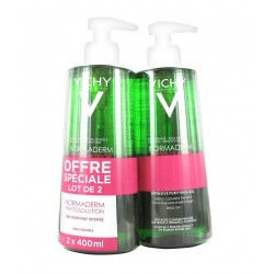 Vichy Normaderm Phytosolution Gel Purifiant Intense 2 x 400 ml