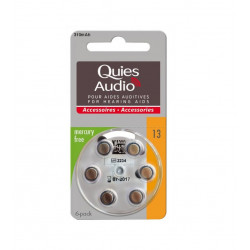Quies Audio Piles pour Aides Auditives Modèle 13