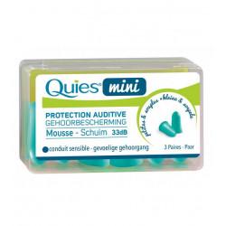 Quies Mini Protection Auditive Mousse 3 Paires