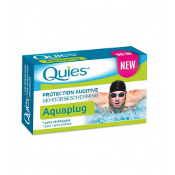 Quies Protection Auditive Aquaplug 1 Paire Réutilisable