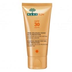 nuxe sun crème délicieuse visage haute protection spf 30 50 ml