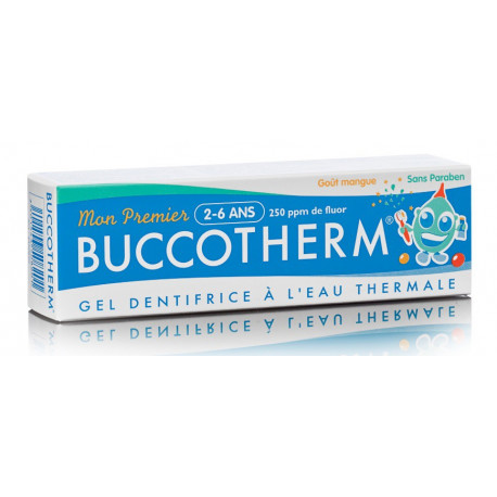 buccotherm gel dentifrice mon premier 2-6 ans mangue 50 ml