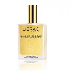 lierac huile sensorielle aux 3 fleurs blanches 100 ml