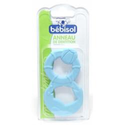 bébisol anneau de dentition bleu