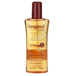 bergasol huile sèche spf 20 corps 125 ml