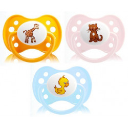 Dodie Sucette Anatomique Silicone 0-6 mois Animaux n°27