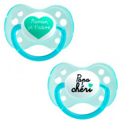 Dodie Sucette Anatomique Silicone 0-6 mois Duo Message n°31