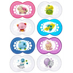 Mam 2 Sucettes Anatomiques Silicone +6 mois