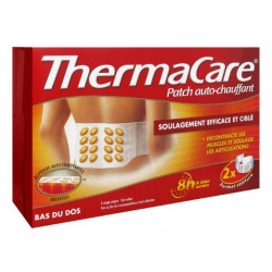 thermacare patch auto-chauffant 8h bas du dos x 2