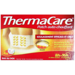 thermacare patch auto-chauffant 8h bas du dos x4