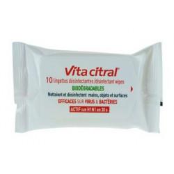 Vita Citral 10 Lingettes Désinfectantes