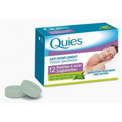 quies anti-ronflement pastilles à sucer goût menthe eucalyptus