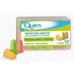 Quies Protection Auditive Mousse Confort Fluo 3 Paires