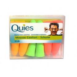Quies Protection Auditive Mousse Confort Fluo 6 Paires