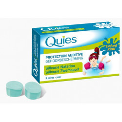 quies protection auditive silicone natation enfant 3 paires